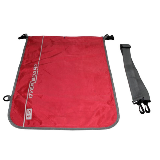 Overboard Dry Flat Bag 15 Liter red